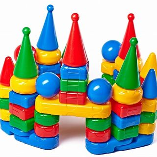 """""""Air Castle"""" 6, the designer-pyramid - a children's colorful game that develops the motor skills of fingers"""