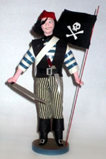Doll gift. Pirate one-eyed. The military uniform of the 2nd half of the 17th century.