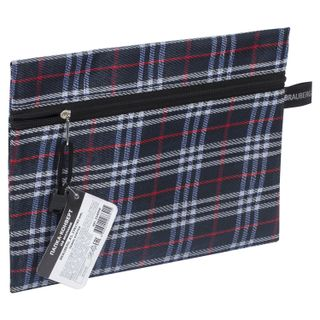 Folder-zipper envelope SMALL FORMAT (238х180 mm), A5 plaid, BRAUBERG