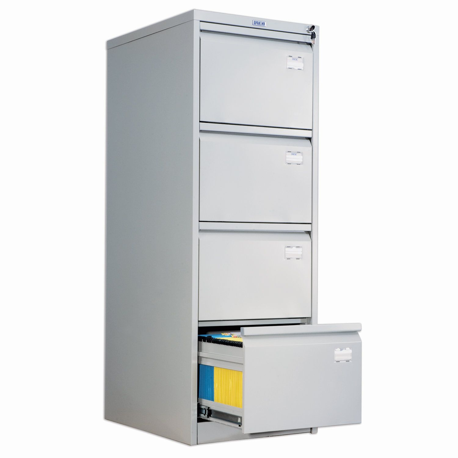 AFC-04 card cabinet, 1330 x467 x630 mm, 4 boxes, for 220 hanging folders, Foolscap or A4 folder format (FREE folders)