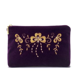 "Velvet cosmetics bag ""Shamrock"""