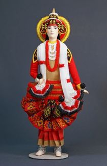 Doll gift. Costume, 20th century India