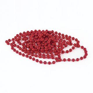 GOLDEN TALE / Christmas tree beads diameter 7.5 mm, length 2.7 m, red