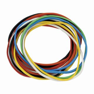 Universal bank rubber bands with a diameter of 80 mm, STAFF 100 g, colored, natural rubber