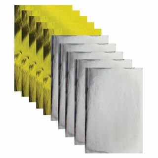 Coloured paper, A4, coated, self-ADHESIVE, 10 sheets (5 gold+5 silver), 80 g/m2, TREASURE ISLAND