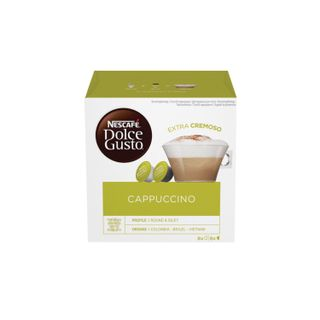 Capsules for NESCAFE Dolce Gusto Cappuccino coffee machines, natural coffee 8 pcs. x 8 g, milk capsules 8 pcs. x 17 g