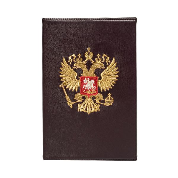 Diary 'eagle' in purple color with Golden embroidery