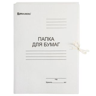 A paper folder with ties cardboard BRAUBERG, 440 g/m2 up to 200 sheets