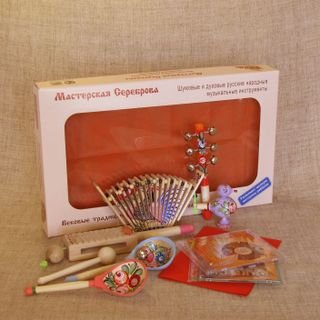 """Antoshka"" set of Russian folk noise musical instruments"