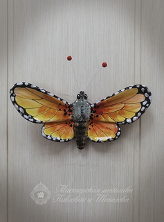 Large butterfly No. 1 - a product of ceramics in engineering of the Yaroslavl majolica