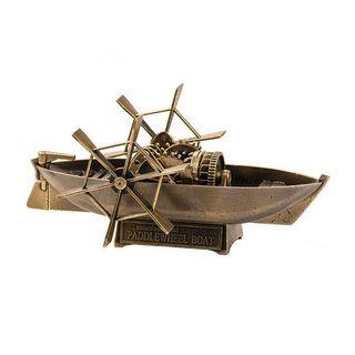 Model boat Leonardo da Vinci paddle wheel