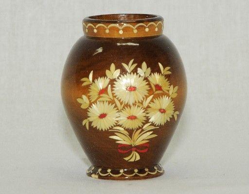 Vyatka souvenir / Inlaid decorative vase