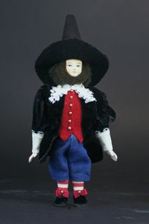 Doll gift porcelain. Dwarf. Fairy tale character.