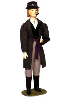 Doll gift. The Finnish men's suit.