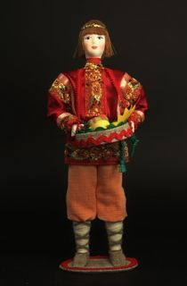Doll gift porcelain. August.Fairy tale character.