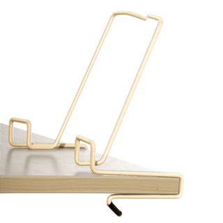 DEMI book stand, metallic, beige