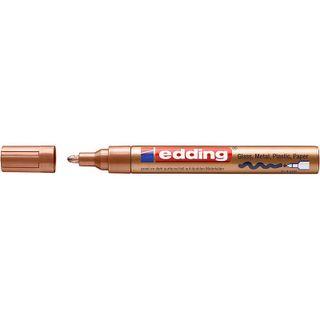 Edding / Highlighter varnish glossy, round nib, 2-4 mm Copper