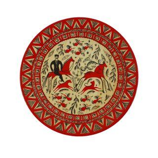 """Plate wooden """"Mezenskaya Rospis"""" 25 cm"""