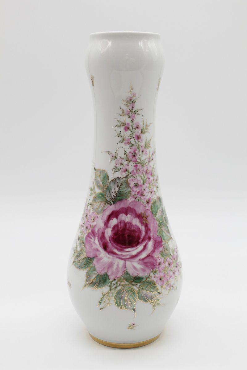 Dulevo porcelain / Flower vase Skittles Peonies ,, by Shirina V.V.