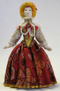 Doll gift. Elizabeth dress in Italian style