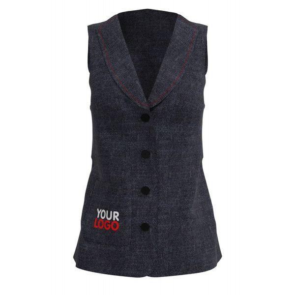 Kvartuk / Women's vest from jeans BETSY