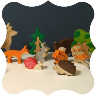 Children's colorful colorful wooden toys
