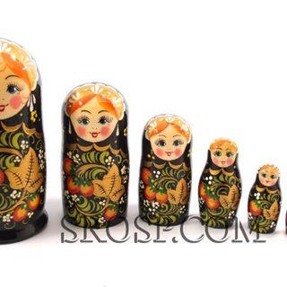 Rossijanochka - booklet doll, 7 dolls - with strawberries