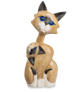 "Wooden statuette of ""Cat's flexibility"" 30 cm"