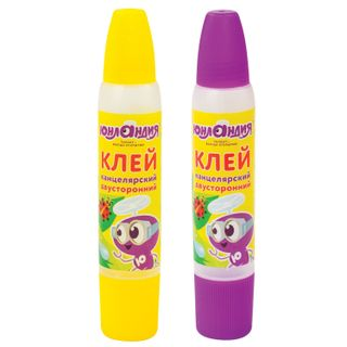 Glue stationery bilateral INLANDIA, 30 ml, narrow to wide applicators