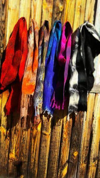 Felted scarf, handmade