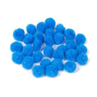 POM-poms for creativity, blue, 15 mm, 30 PCs., TREASURE ISLAND
