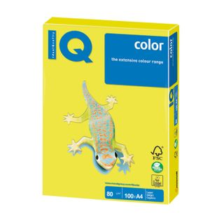 IQ COLOR / A4 paper, 80 g / m2, 100 sheets, neon, yellow