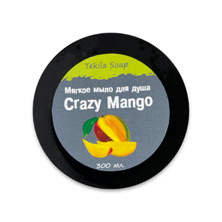 "Soft soap for the soul of ""Crazy Mango"" 300 ml, Tekila Soap"