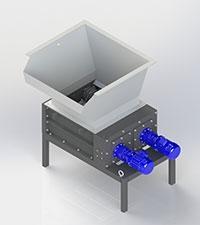 Two-rotor shredder