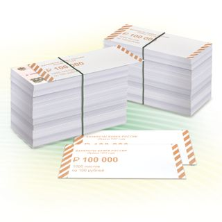 Overlays for wrapping banknote spines, set of 2000 pcs., Denomination of 100 rubles.