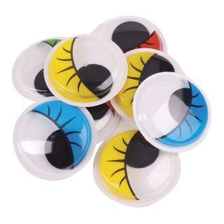 Eyes for creativity self-adhesive, rotating, 25 mm, 8 PCs., colored, TREASURE ISLAND