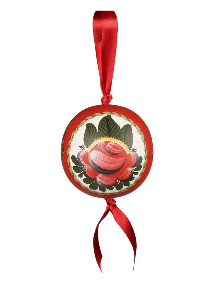 "Volkhov painting / Interior pendant decoration ""Ball"" ""Volkhov rose tree No. 5"""