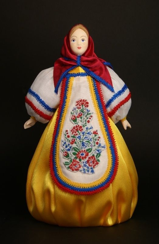 Doll gift porcelain. Matryoshka. Inspired by traditional Russian toys.