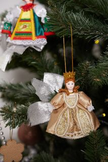 Christmas toy from Cinderella porcelain, 12 cm