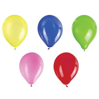 """GOLDEN FAIRY TALE / Balloons 12 """"(30 cm), SET of 10 pieces, assorted 5 colors, package"""