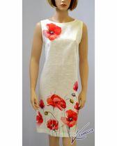 "Linen dress of direct silhouette ""MAKI"""