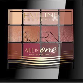 Eye shadow: 03-burn series all in one, Eveline, 12 g