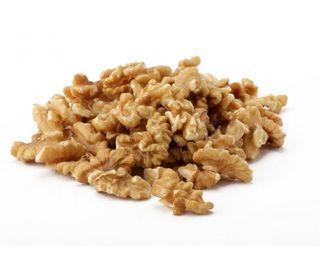 Walnuts are whole, peeled, chopped.