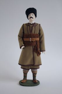 Doll gift porcelain. Male costume. Serbia