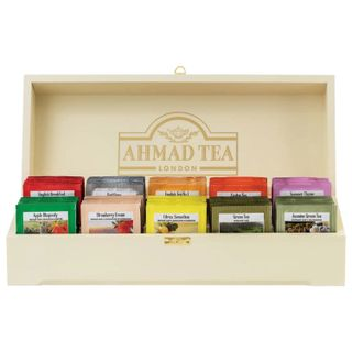"""AHMAD / Tea """"Contemporary"""", set in a wooden box, assorted 10 flavors, 10 sachets, 2 g each"""