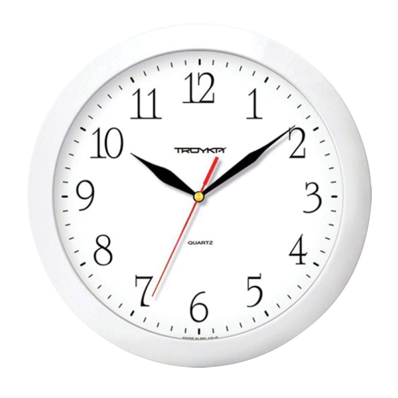 Wall clock TROYKA 11110113, circle, white, white frame, 29х29х3,5 cm