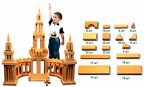 DESIGNER OUTDOOR oversized 'St. Petersburg 2' varnish 256 parts (8 wooden boxes) for children from 3 years