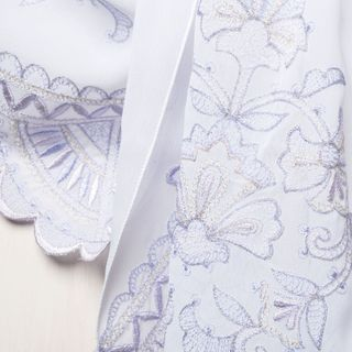 """Tippet's """"Dreams"""" in white with silk embroidery"""