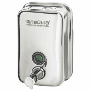 Dispenser for liquid soap LIME PROFESSIONAL (36 months warranty), 0,5 l, stainless steel, mirror