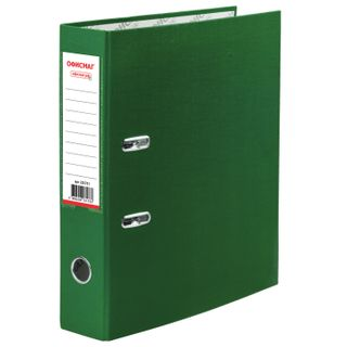 Folder-Registrar with FISMA arch mechanism, coated PVC, 75 mm, green